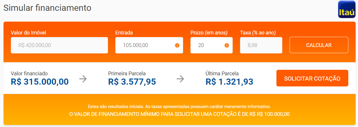 financiamento imovel 20 anos